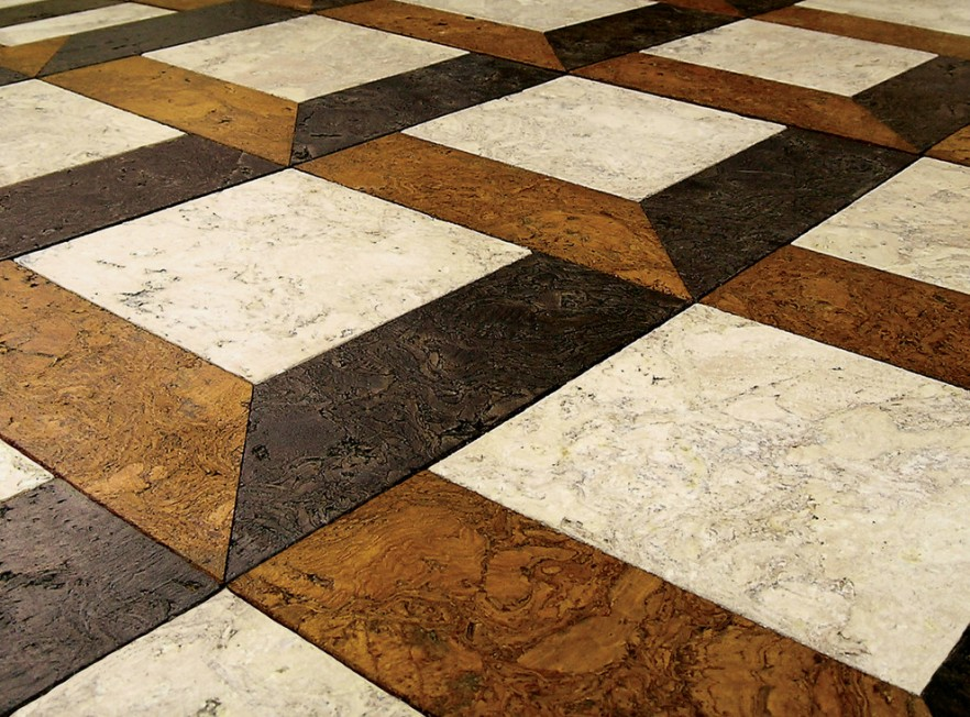 cork tile flooring - warm and attractive design ideas GQJJAHO