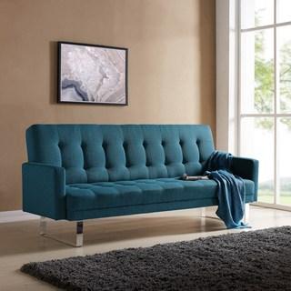 couch sofa bed handy living springfield caribbean blue linen click clack futon sofa bed EJRAKIJ