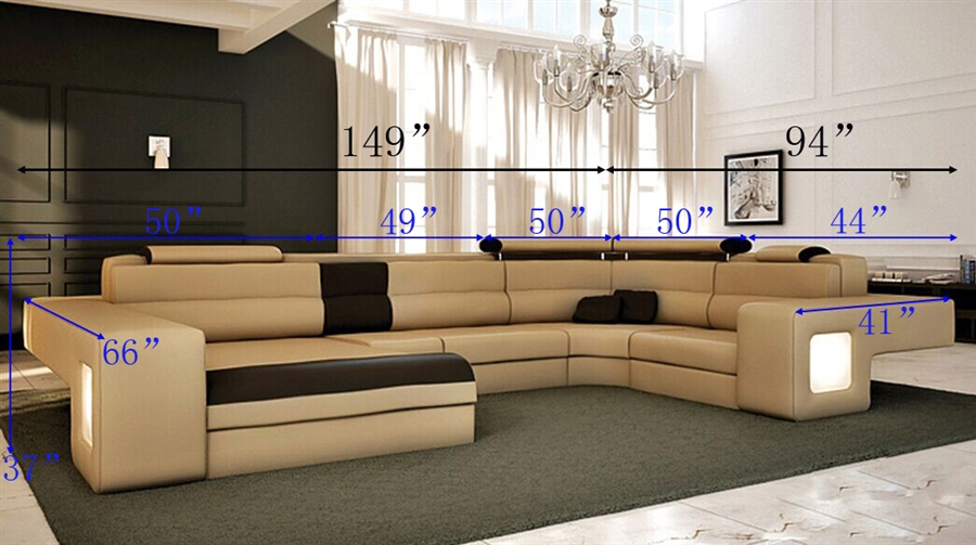 custom sectional sofa list price: $4,998.00 WSUYPYF