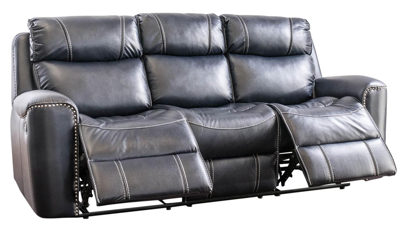 da vinci blue reclining sofa - home zone furniture MPUEIWX