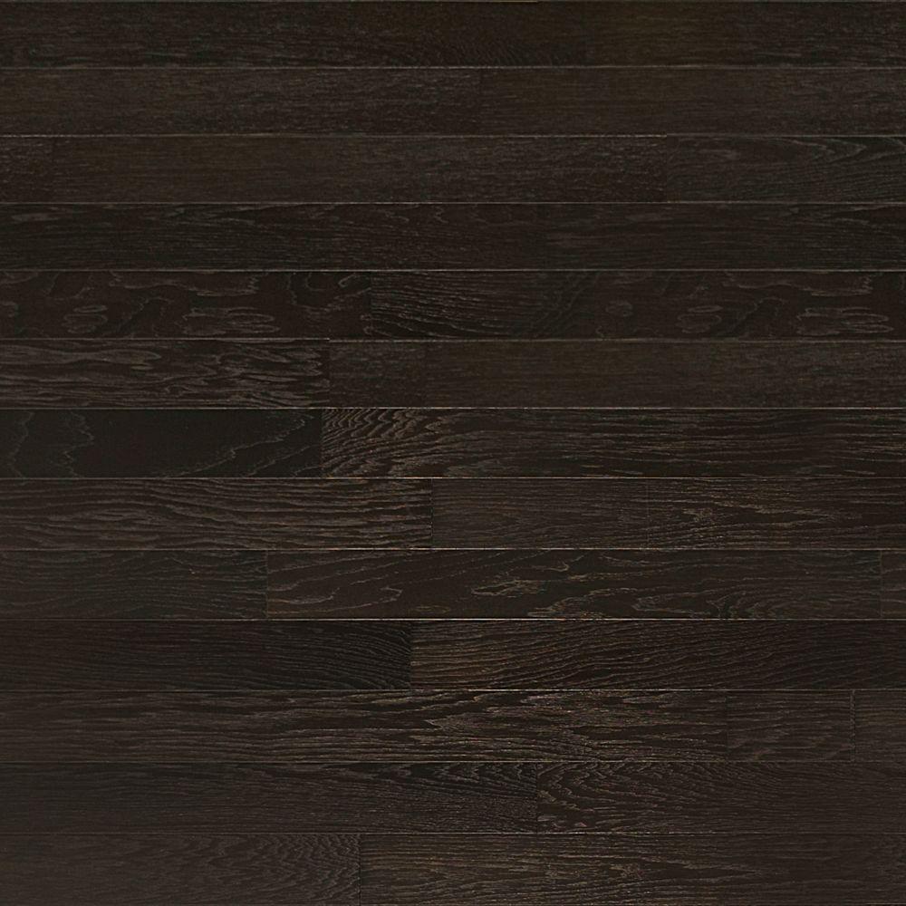 dark wood flooring brushed hickory ebony 3/4 in. thick x 4 in. wide x random TRYDQAU