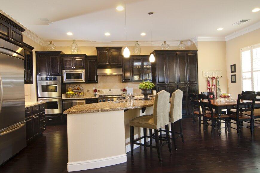 dark wood floors this fantastic kitchen has a sleek dark wooden floor. the cabinets in this GENKHOA
