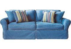 denim sofa covers BHXKQVB