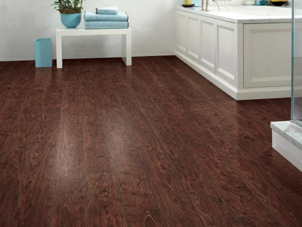 design laminate flooring bathroom with dark hardwood floors CBOHDBJ