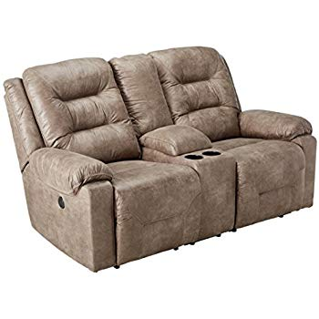 design loveseat ashley furniture signature design - rotation recliner loveseat with console  - power ELTGLXN