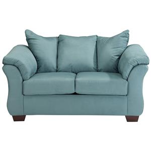design loveseat contemporary stationary loveseat with flared back pillows YYNOLCD
