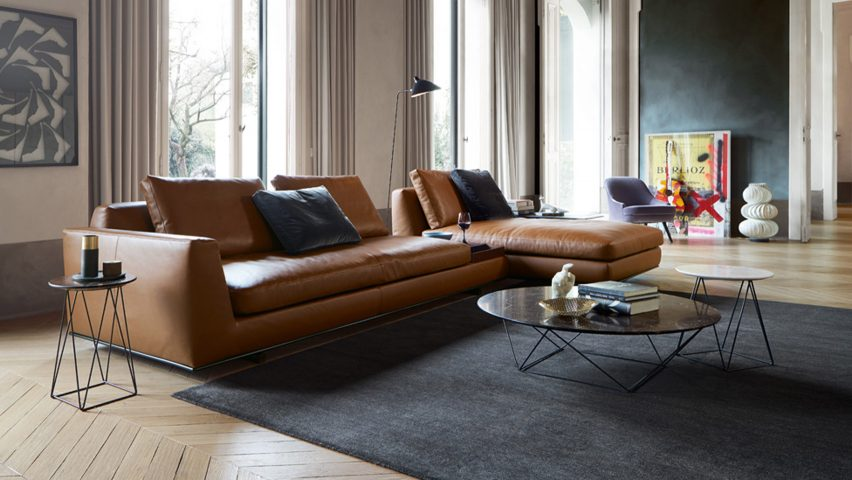 design sofas walter knoll to present sofa with integrated accessories at milan design  week IQSXRYQ