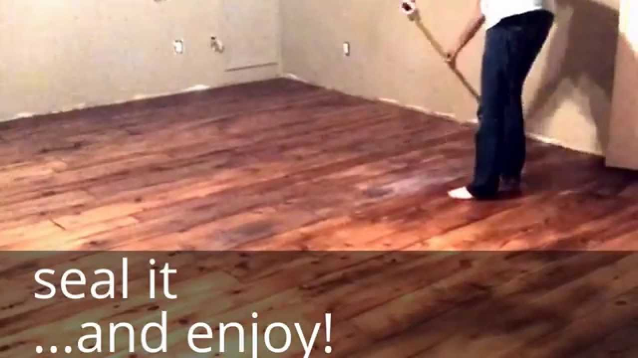 Diy hardwood floor diy farm house floor - easy and cheap wood floors with that industrial, UVMVKDZ