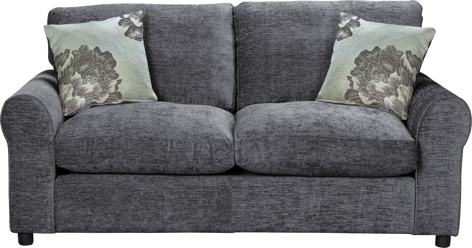 double sofa bed home tessa fabric sofa bed - charcoal NGKBNIY