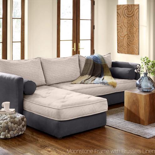 eco linen sectional sleeper sofa OOMTZAC