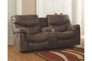 electric reclining loveseat alzena power reclining loveseat with console, , large ... XNLQMJH
