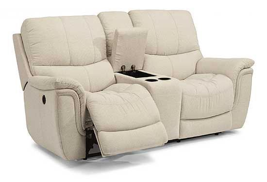 electric reclining loveseat coco fabric reclining loveseat with console KZESROR