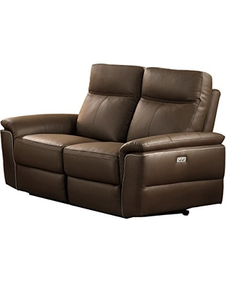 electric reclining loveseat homelegance olympia modern design power reclining loveseat top grain  genuine leather match, NWOEGSN