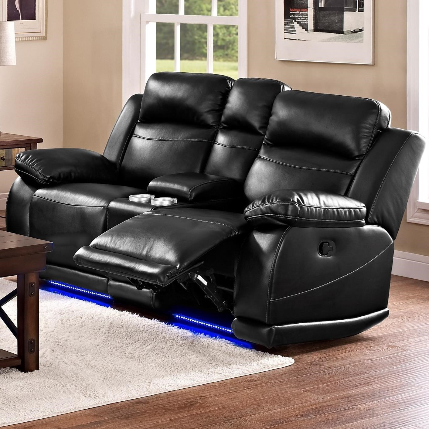 electric reclining loveseat new classic vega casual reclining loveseat with console and cup holders KYWQYJI