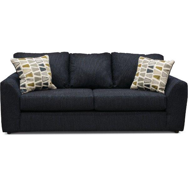 fabric couches casual contemporary dark blue sofa - hannah SGGKMSN