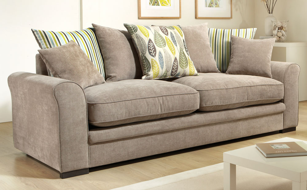 fabric couches ... modern couch white fabric dark cushion large medium box and also small VXAFEGL