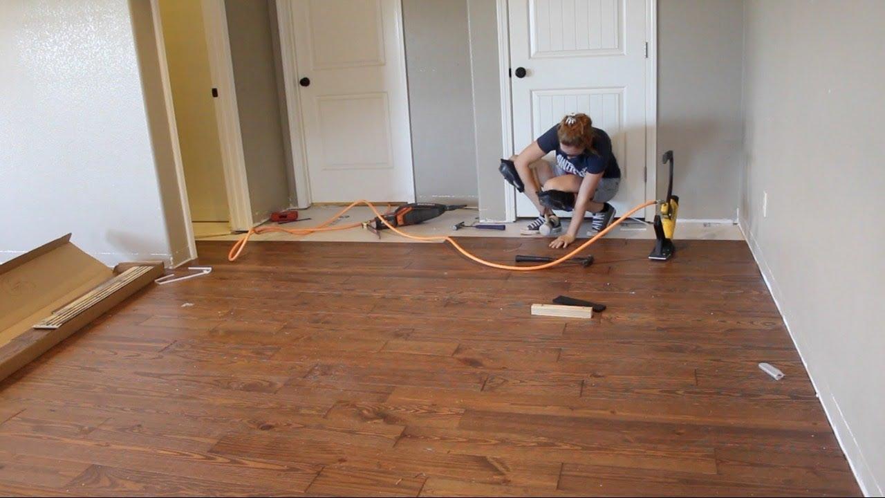 first time laying hardwood flooring AIKVGJA