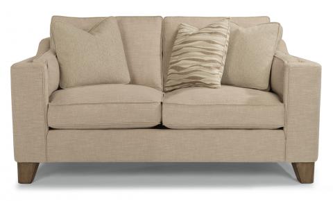 flexsteel sofa fabric loveseat FLDHPHK