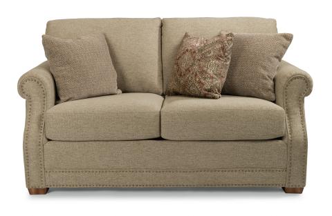 flexsteel sofa fabric loveseat with nailhead trim AFKJKMP