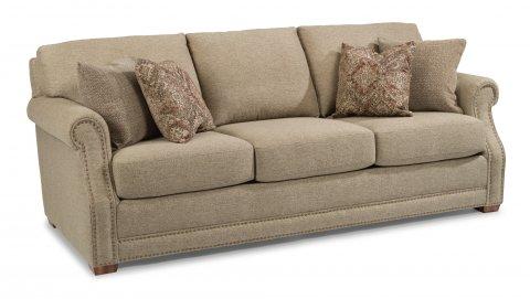 flexsteel sofa fabric sofa with nailhead trim XFTXSDX