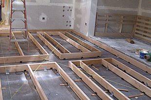 Floating flooring for studios floating-floor-framing-raised-floor JJAXLLK