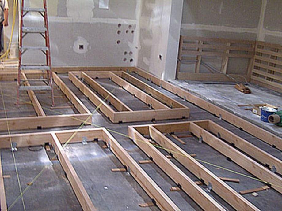 Floating flooring for studios
