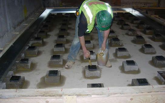 Floating flooring for studios floating floor on blocks. QCGBLEJ