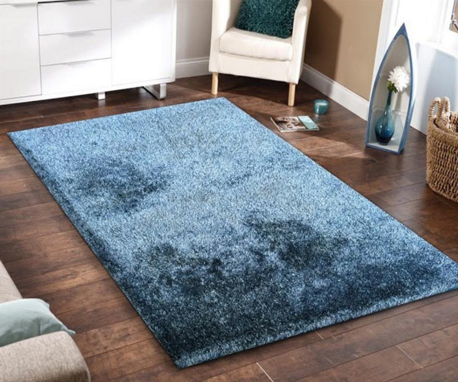 floor rugs 5x7 amore blue shag floor rug XVILZDS