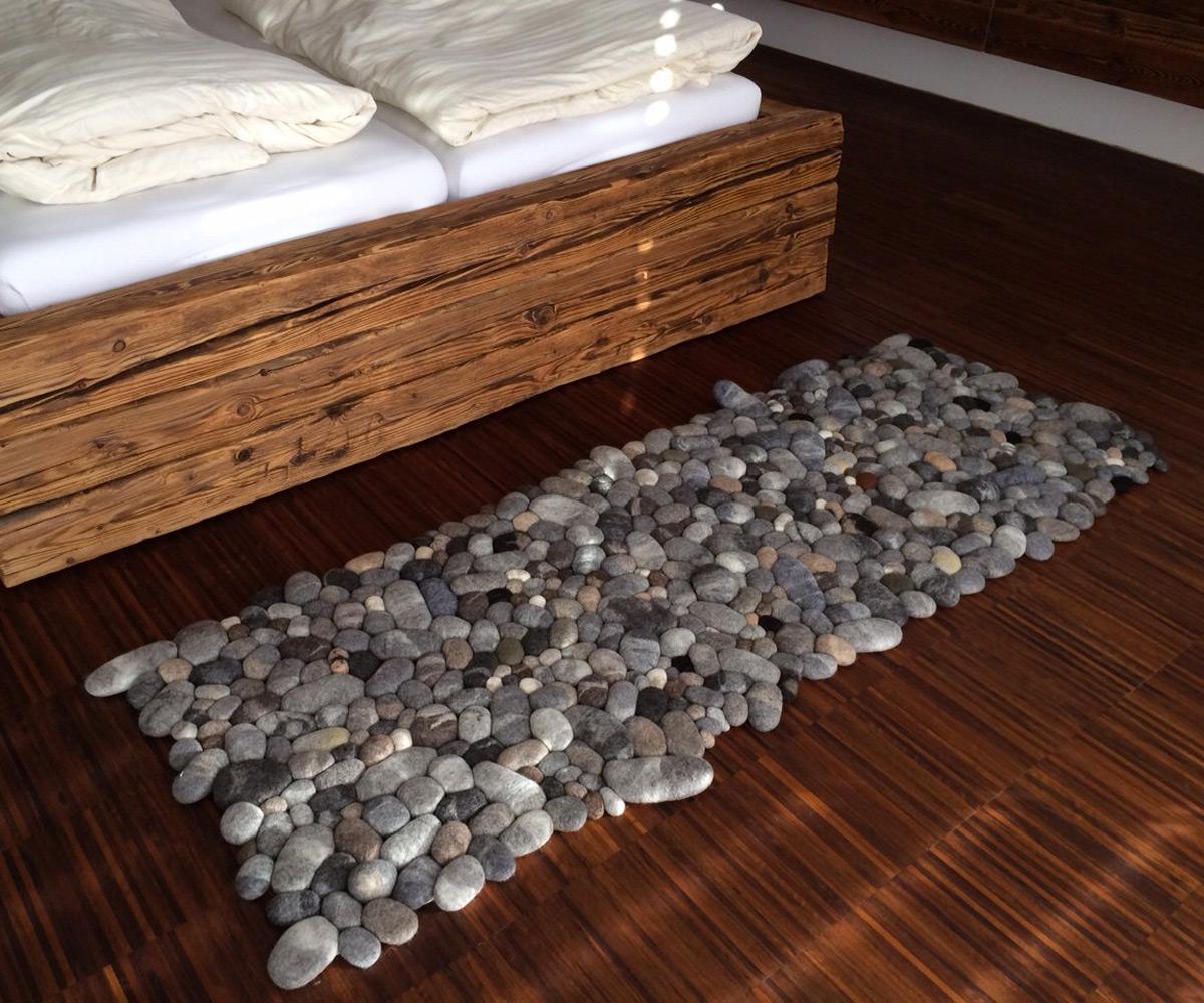 floor rugs felt stone area rugs ... THVWJJX