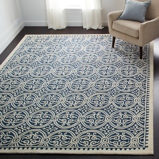 floor rugs safavieh handmade moroccan cambridge navy blue wool rug (more options  available) RBQCLSQ