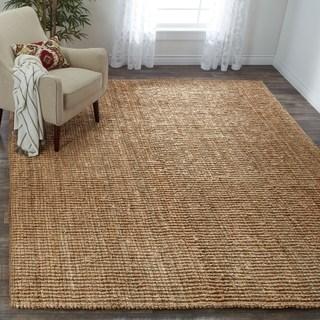 floor rugs safavieh handwoven casual thick jute area rug - 6u0027 ... UVLDMKQ