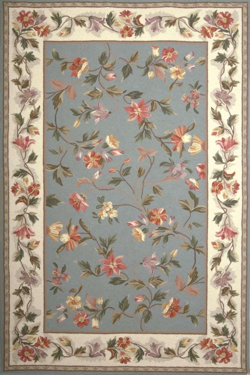 floral rug colonial 1728 slate blue/ivory floral area rug by kas oriental rugs CAKUROE
