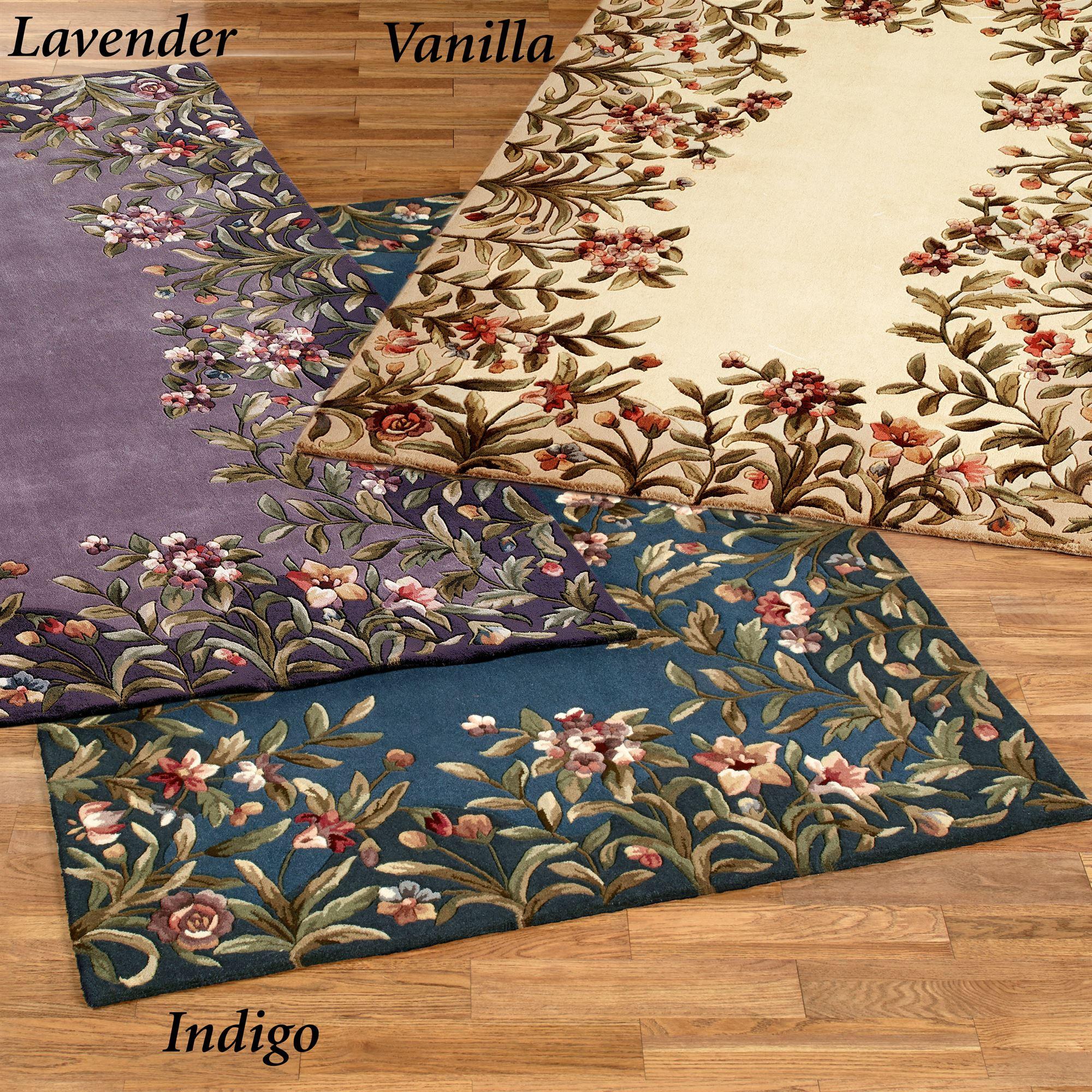 floral rug felisha lavender area rug HRJNGCD