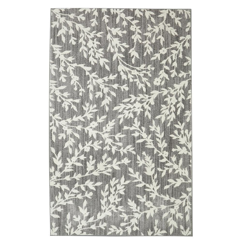 floral rug floral branches gray 8 ft. x 10 ft. area rug JJVHIMS
