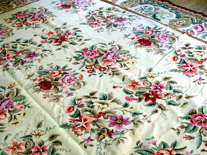 floral rug large chinese needlepoint floral pattern rug (item #1038861) EZPZJJX