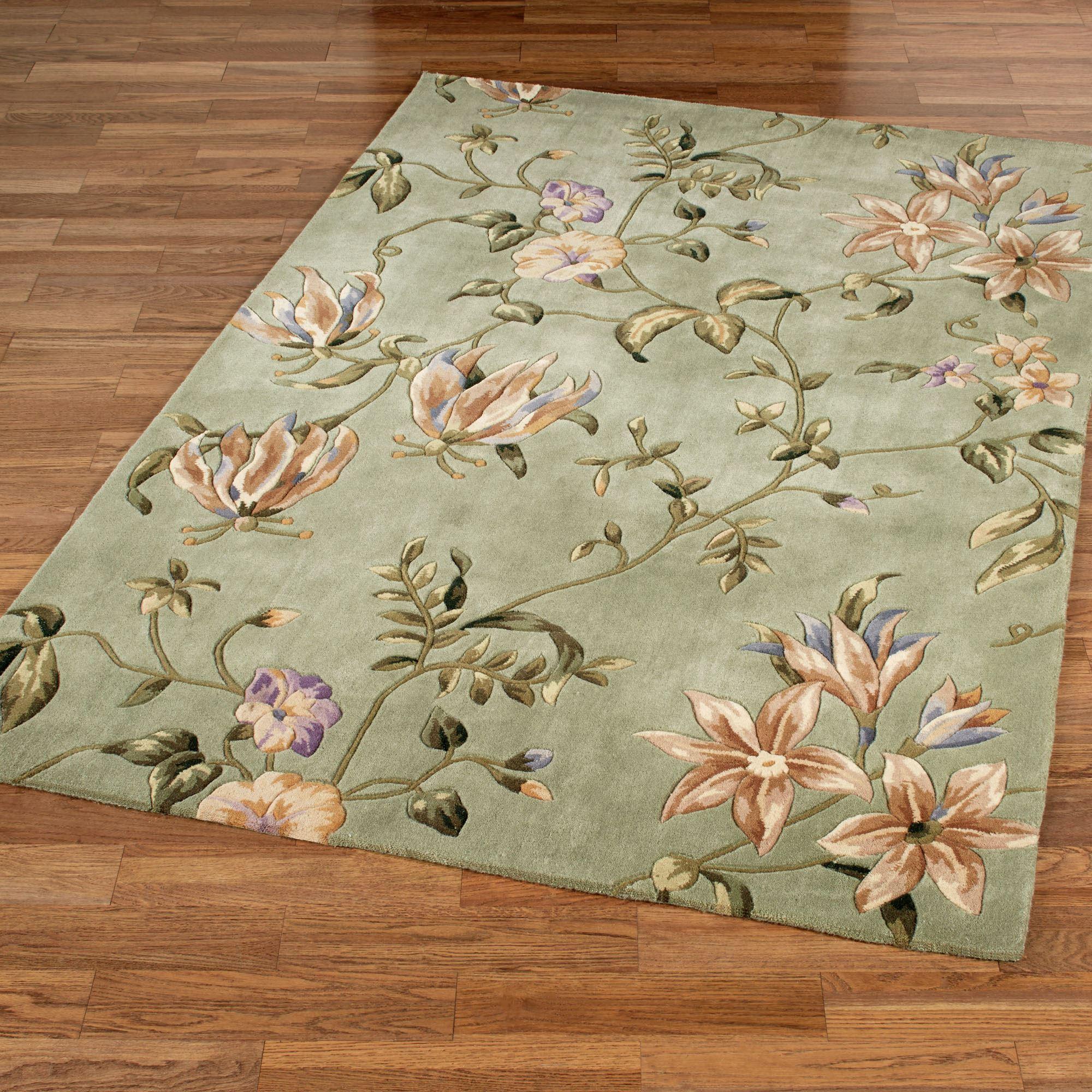 floral rug secret floral rectangle rug sage SZQBBZE
