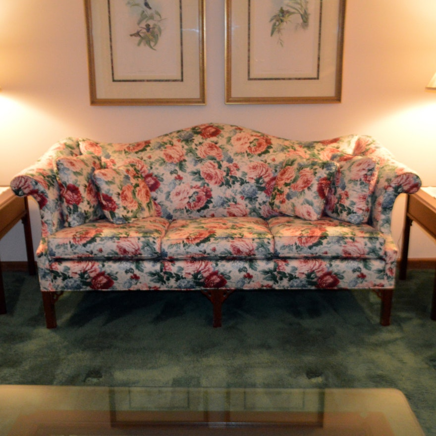 floral sofa and loveseat upholstered floral sofa by pennsylvania house ebth with sofas and loveseats  designs MBZPQZD
