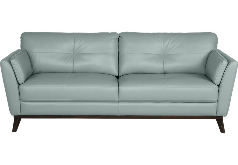 gabriele spa blue leather sofa HFPDPUV