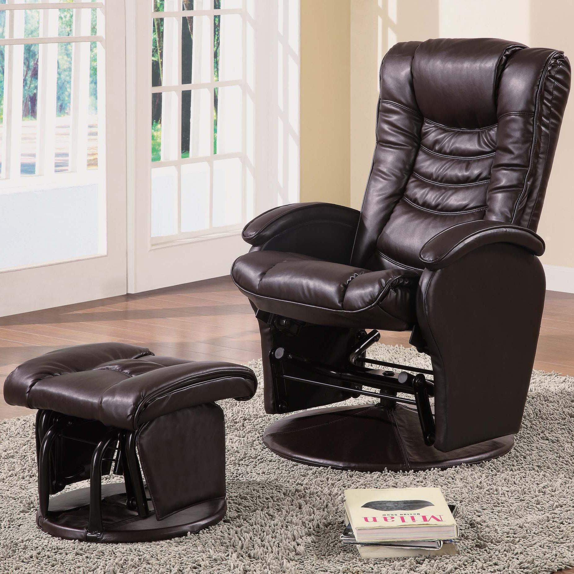 glider recliners coaster recliners with ottomans glider recliner with ottoman - item number:  600165 AHLKGFX