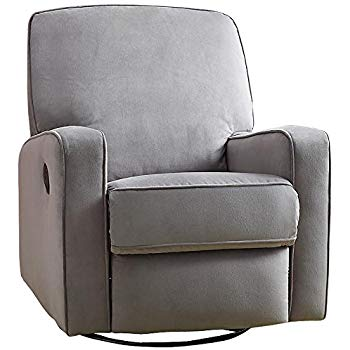 glider recliners pulaski sutton swivel glider recliner, zen grey with stella piping HQNKMYS