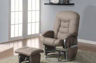 glider recliners recliners with ottomans casual leatherette glider recliner with matching  ottoman .beige VFTYTEN