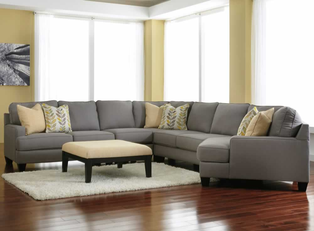 Home decor and seating furniture – gray sectional couch