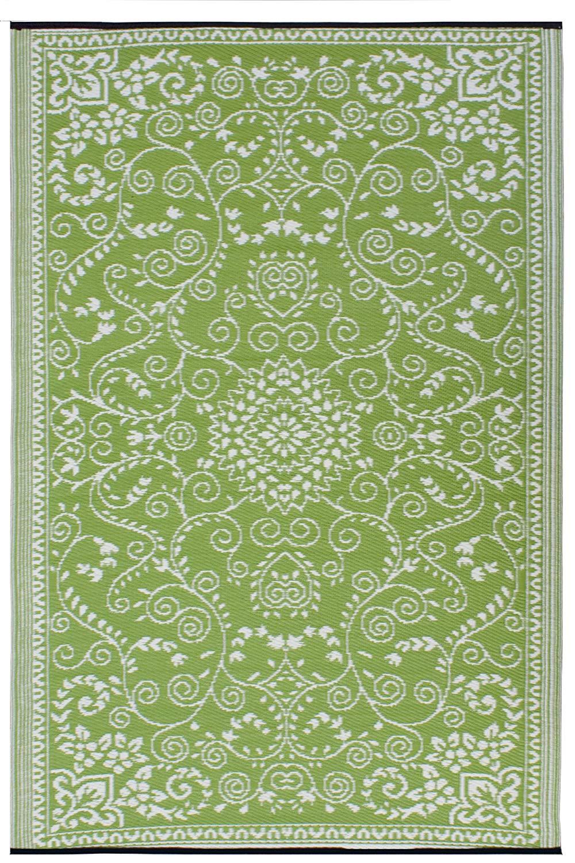 Green area rugs amazon.com : fab habitat murano recycled plastic rug, lime green u0026 cream, YIVEUGO