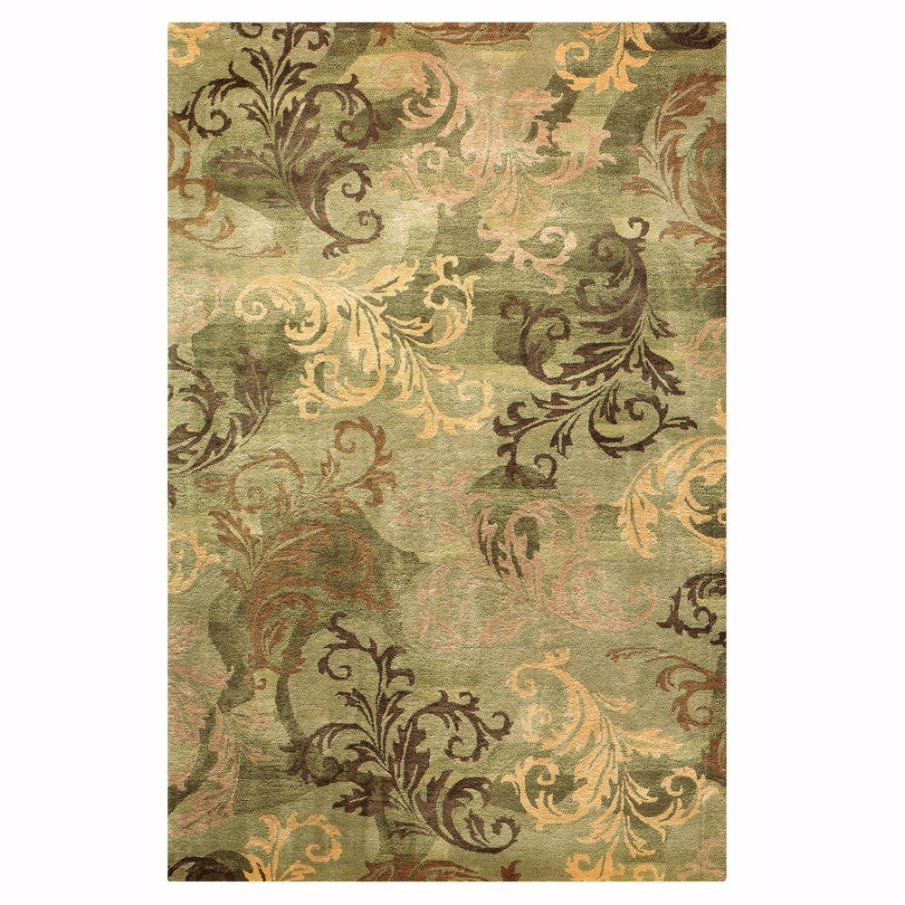 Green area rugs home decorators collection symphony sage/green 10 ft. x 14 ft. area rug HHBJUMX