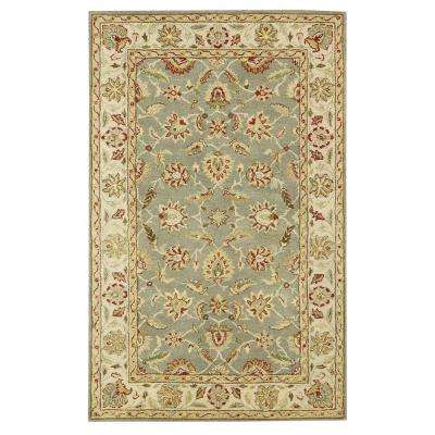 Green area rugs old london green/ivory 8 ft. x 11 ft. area rug NMSCVAQ