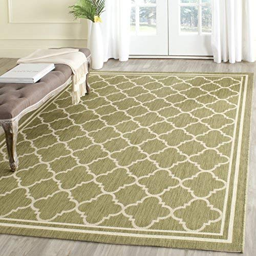 Green area rugs safavieh courtyard collection cy6918-244 green and beige indoor/ outdoor  square area rug VVXYZTP