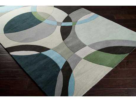 Green area rugs surya forum square dark green, ivory u0026 black area rug MFBZTOO