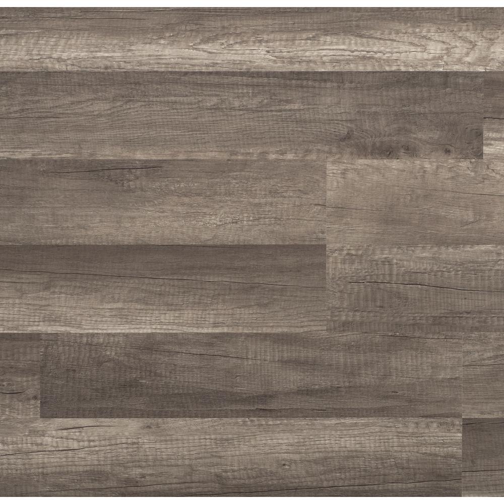 Grey laminate wood flooring trafficmaster grey oak 7 mm thick x 8.03 in. wide x 47.64 in. XAGTUVS