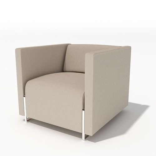 grey modern armchair 34 am45 3d model UXDAGDH