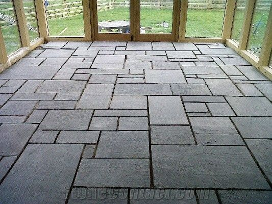 grey slate flooring pattern STNRTKJ